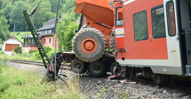 33 injured after train rams truck in Germany