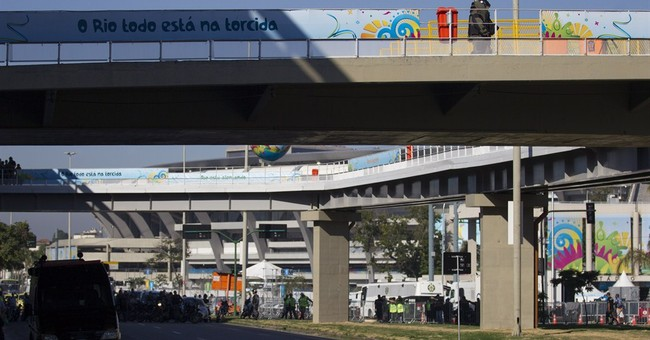Police blow up bag left near Rio's soccer stadium