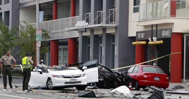 Stolen Tesla torn apart in fiery crash
