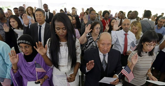 AP PHOTOS: Naturalization ceremonies around US
