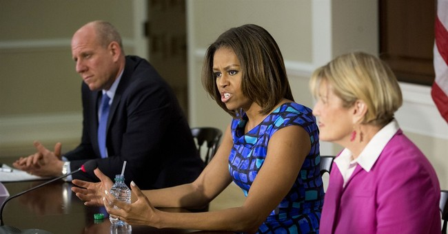 First lady bucks GOP on school lunch rules