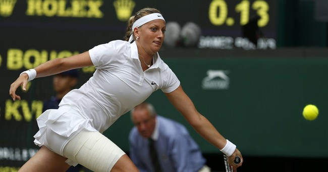 Kvitova wins 1st set 6-3 in final vs Bouchard