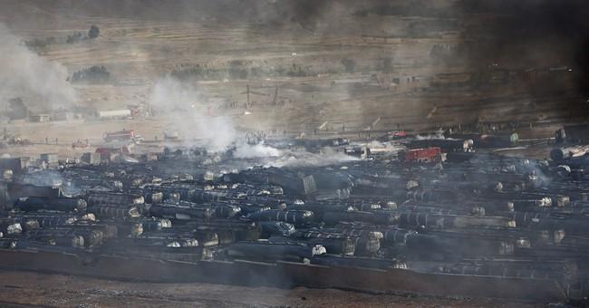Fuel tanker trucks burn outside Afghan capital