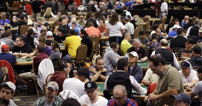 World Series of Poker main event on; $10M prize