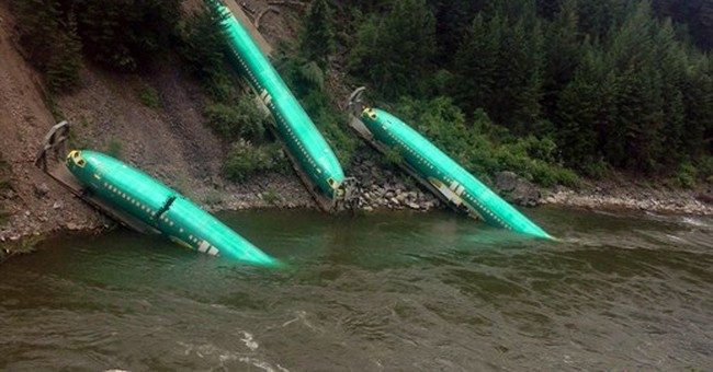 Pulling fuselages from Montana river going 'slow'