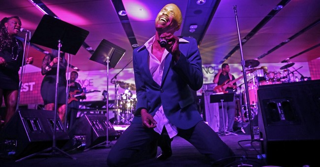 R&B singer Tevin Campbell performs at Essence fest