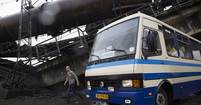 3 bridges blown up in Ukraine near rebel-held city