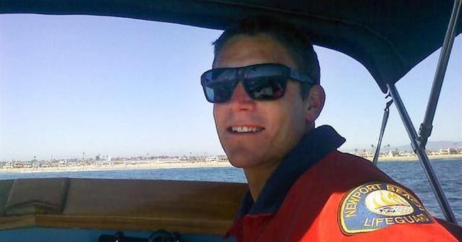 Dad shocked huge waves killed lifeguard son