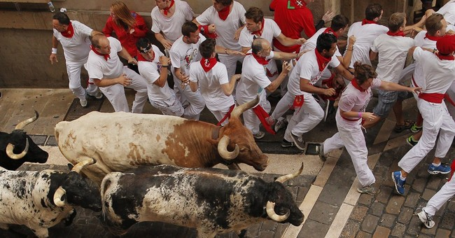 No gorings in 2nd bull-run at Spain's San Fermin
