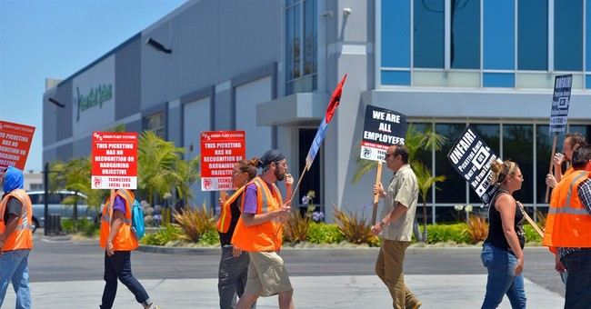 Truckers strike at Los Angeles, Long Beach ports