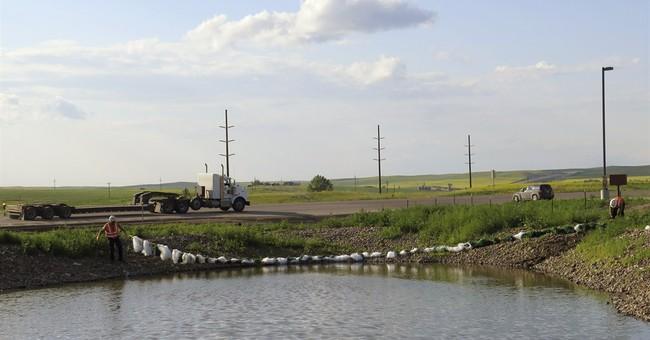 Lightning hits 3rd North Dakota saltwater facility