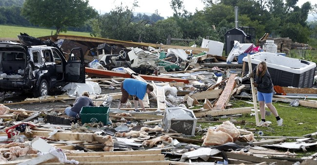 Cleanup from fatal storms begins in Eastern states