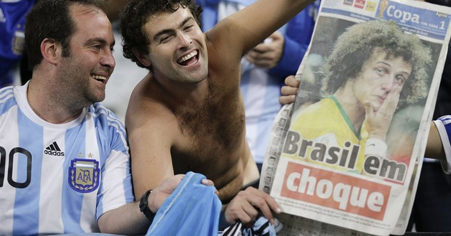 Argentina soccer fans celebrate cup final berth