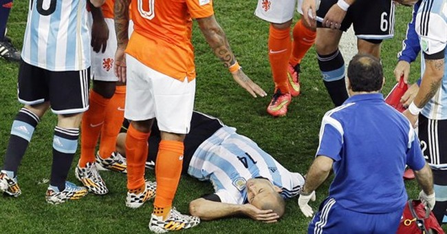 Mascherano, Zabaleta play on after blows to head