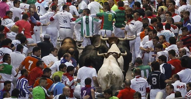 7 injured, no gorings in 5th Pamplona bull run