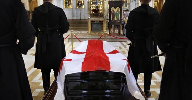 Former Georgian president Shevardnadze buried