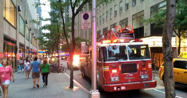 Observation deck fire at Rockefeller Plaza hurts 6