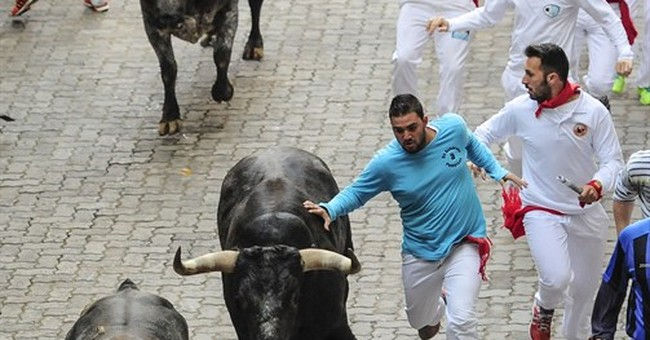 Bull gores 2 in final run of Spain's San Fermin