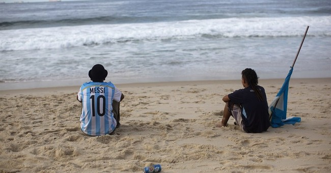 Argentine shares lag on World Cup defeat