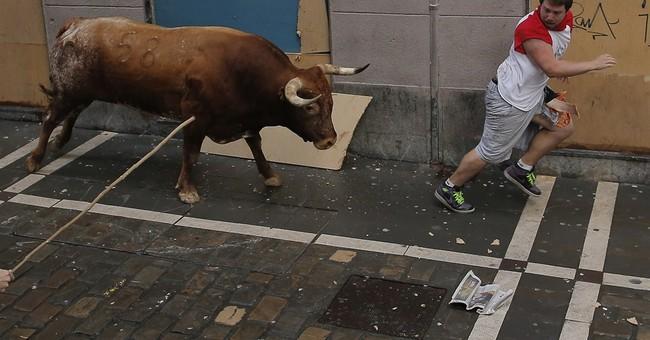 Bull gores 2 in final run of Spain's San Fermin