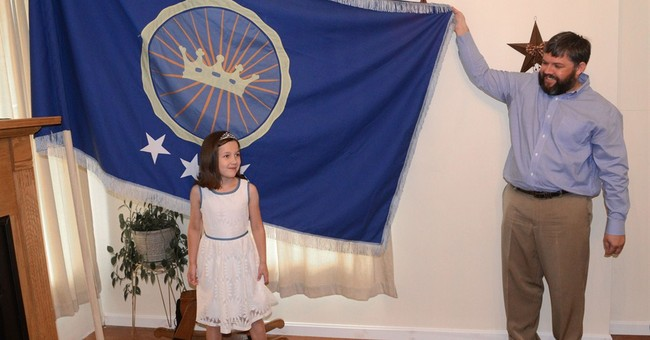 Man claims kingdom so daughter can be princess