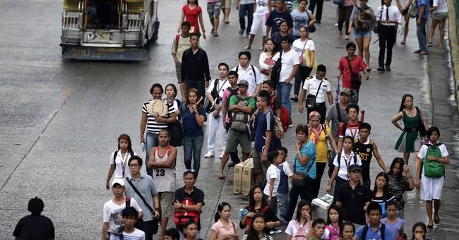 Typhoon kills 38 in Philippines, spares Manila