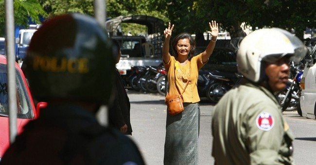 About 40 injured at Cambodia opposition protest