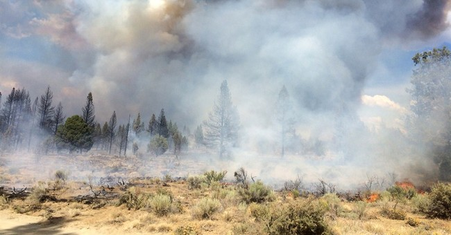 Hot, dry weather encouraging western wildfires