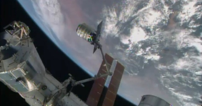 Commercial shipment arrives at space station