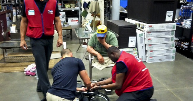 VA a no show; store workers fix vet's wheelchair
