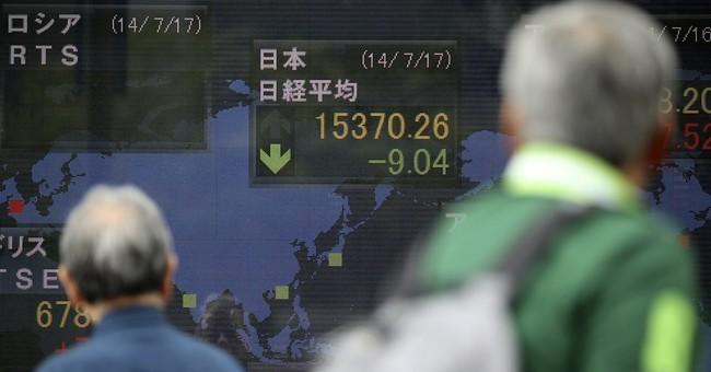 Global stocks down ahead of US data, earnings