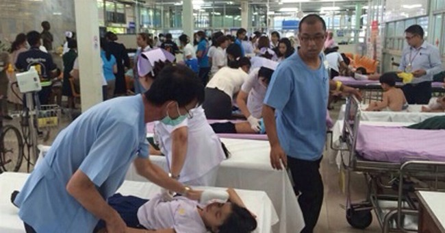 About 100 sickened by chemical leak near Thai port