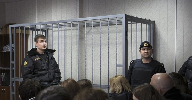 European ruling: Russia court cages violate rights