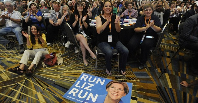 Liberals swoon for Warren, point to Clinton in '16