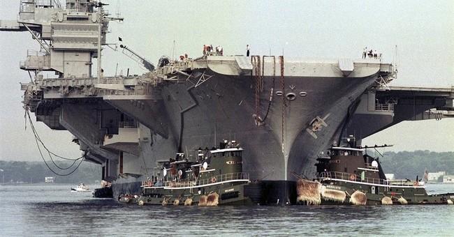 Peregrine falcons delay USS Saratoga departure