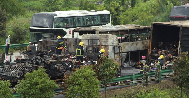 Highway collision in China kills at least 43