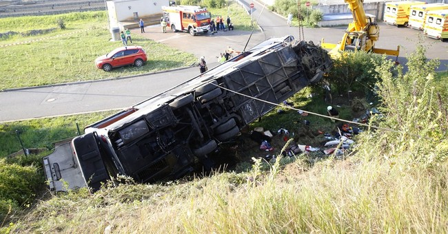 Multiple bus crash in Germany kills 10, injures 69