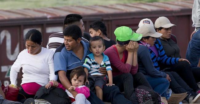 Despite crush of children, illegal immigration low