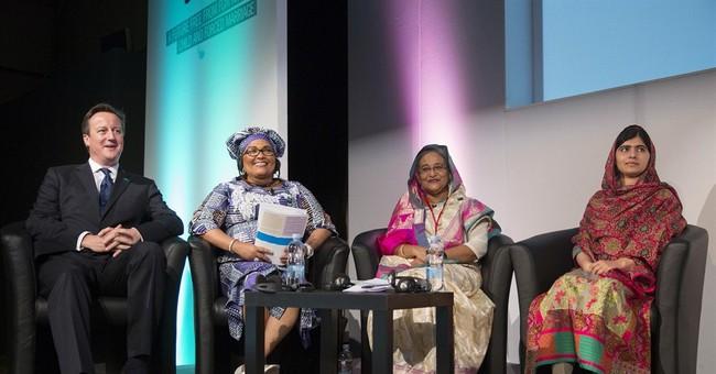 Freida Pinto speaks at girls' rights summit in UK