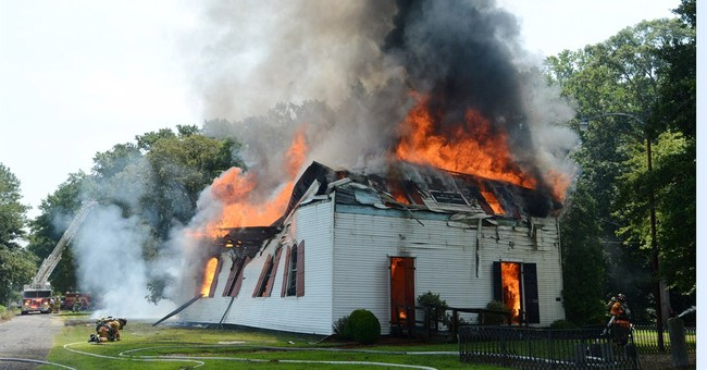 Maryland church built in 1773 ravaged by fire