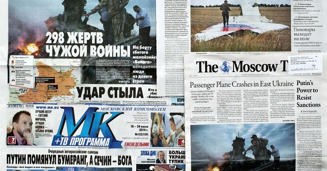Russians fed conspiracy theories on Ukraine crash