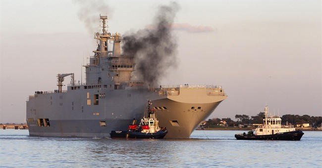 Amid sanctions, France in warship sale to Russia