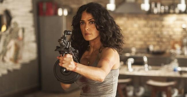 Salma Hayek pulls trigger on 'Everly' at Comic-Con