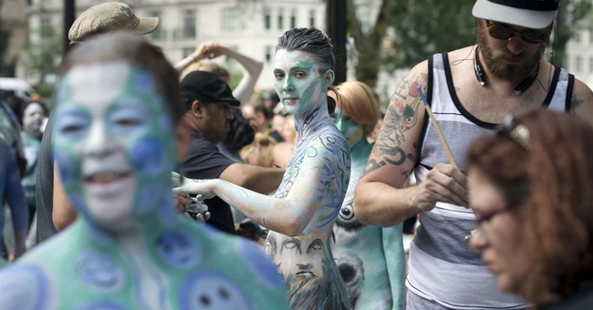 Nude models, artists take to New York City streets