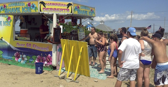 Beach town's ban prompts battle over shave ice