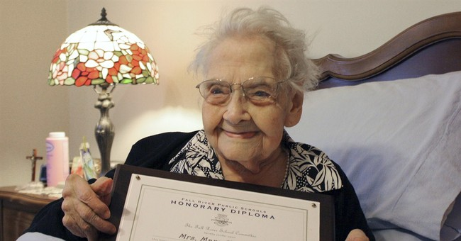 Centenarian gets honorary high school diploma