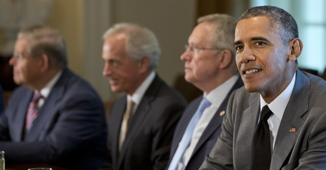 Obama holds foreign policy meeting with lawmakers