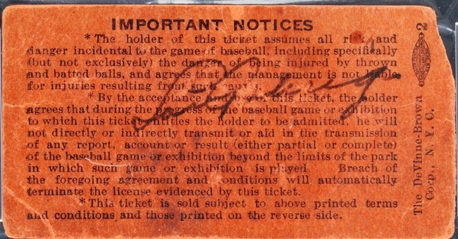 Signed ticket from Gehrig's last game nets $95,600
