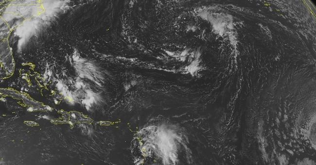 Tropical storm dumps rain in eastern Caribbean