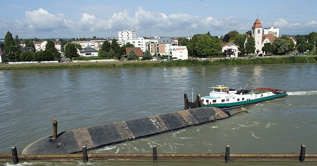 Ships collide on Rhine in Swiss city; no injuries